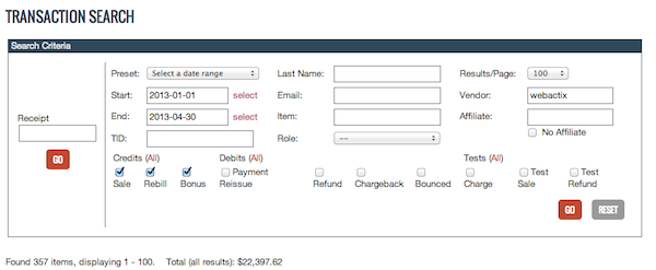 Clickbank Screenshot