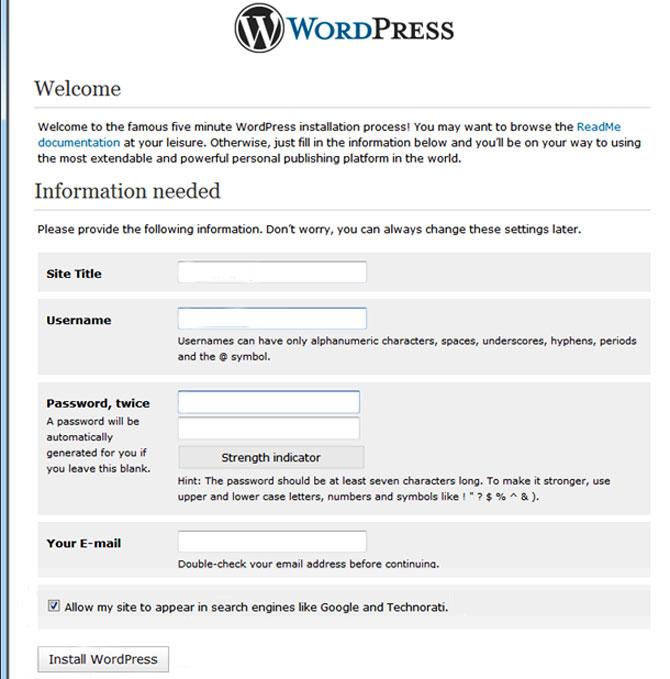 wp-install-script