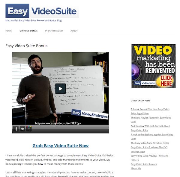 Easy Video Suite Bonus