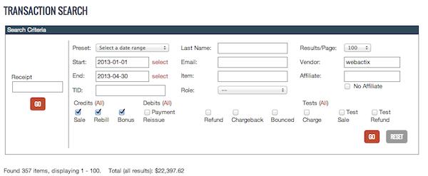Clickbank Screenshot