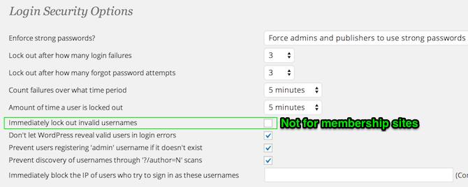 WordFence Login Security Settings