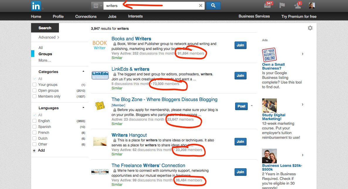 LinkedIn Groups -- Finding and Hiring Writers for Your Blog | LearnToBlog.com