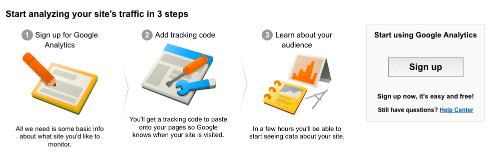 sign up in 3 steps